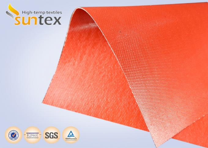 Suntex High  Silicone Rubber Coated Fiberglass Fabric 2 Sides Coating Heat Resistant Material