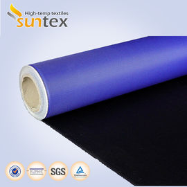 China Fireproof Polyurethane PU Coated Fiberglass Fabric Fire Resistant Thermal Insulation supplier