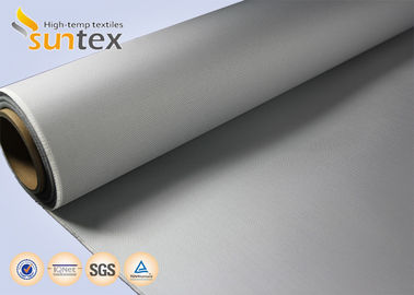China M0 Fire Proof PU Coated Fiberglass Fire Retardant Cloth 4H Satin For Flexible Expansion Joint supplier