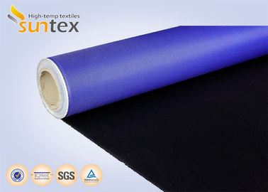 China Fire Resistant PU Coated Fiberglass Fabrics M0 0.41mm 460g Flexible Duct Cloth Fabric supplier