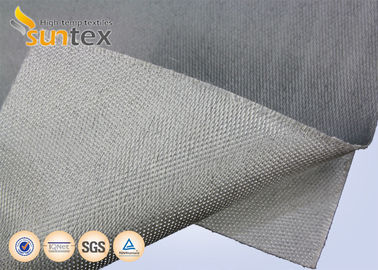 China Stainless Steel Wire Reinforced Fiberglass Cloth With PU Coating 0.7mm For Fire Blanket Smoke Curtains supplier