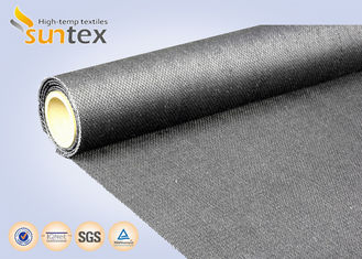 China Fireproof Blanket 29OZ Graphite Coated High Temperature Fabrics Plain Pattern supplier