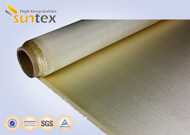 China Brown High Temperature Fiberglass Cloth 0.65mm Extreme For Fireproof Curtain supplier