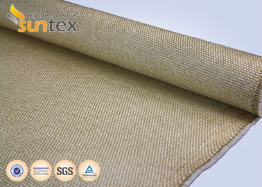 China Yellow Flame / Spark Resistant Fire Fiberglass Welding Blanket Roll Fabric Vermiculite Coated supplier