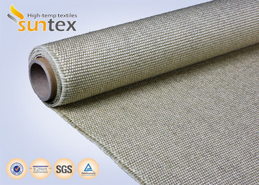 China 800C Vermiculite Coated High Temperature Fiberglass Cloth Heavy Duty Welding Protection supplier