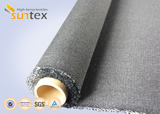 China Black 30oz Twill Fire Resistant Fiberglass Fabric For Welding Curtain Cloth supplier