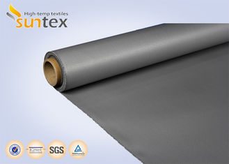 China 0.4 mm Silicone Rubber Coated Fiberglass Fabric For Thermal Insulation Covers supplier