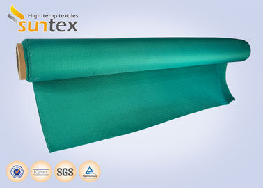 China Green Non Combustible Glass Smoke Curtain Fabric Roll For Building Fire Fighting supplier