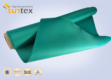 Green High Temp Fiberglass Fire Curtain Fabric Cloth For Building Fire Control System