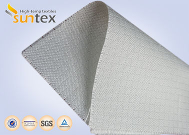 China White Fire Resistant Glass Fibre Fabric  Roll For Construction Fire Curtain , Woven Fiberglass Cloth supplier