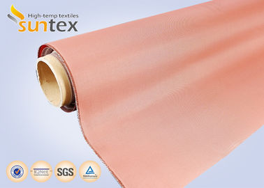China High Temperature Cloth PU Coated Duct Cloth Fabric Fire Barrier 0.21mm Red Fire Retardant supplier