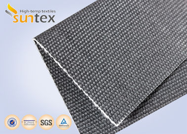 China Flame Resistant Screen 650C High Temperature Resistant Fabric 34OZ Graphite Treated supplier