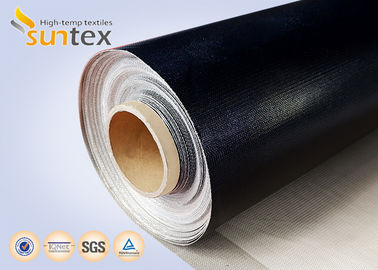 China High Temperature Thermocovers Ptfe Coated Glass Fabric 1 Side 17OZ Fire Barrier supplier