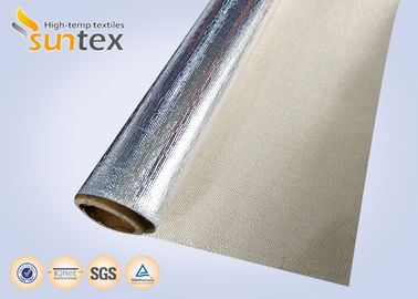 China Reflective Aluminum Foil Fiberglass Fabric For Flexible Connector Duct supplier