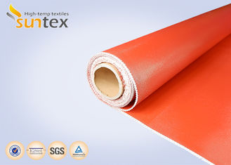 China Red Flexible Connector Thermal Insulation Fabric Silicone Coated Glass Cloth supplier