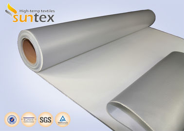 14 OZ Insulation Material Grey Coating Fabric With Silicone For Covers And Jackets