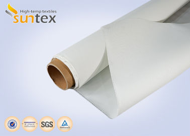 White Light Duty Fiberglass Fire Blanket Or Welding Blanket Roll Coated With Silicone Rubber
