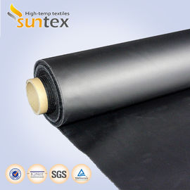 China Neoprene Coated Fiberglass Chemical Resistant Fabric 0.5mm Black Color Weather Resistance supplier