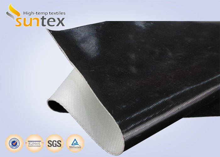 9bfcac6562a8 One Side   Both Side Black Fireproof Fiberglass Cloth Silicone Coating For Fire  Retardant