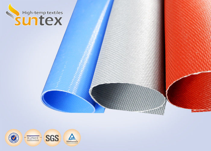 Suntex Woven Thermal Insulation Cloth High Silica Coated With Red