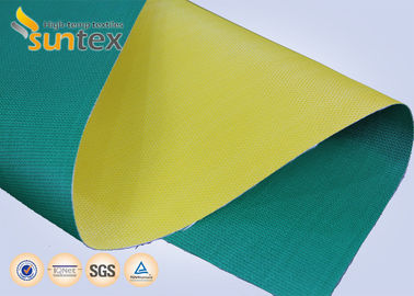 Fireproof Curtains PU Coated Glass Fibre Fabric For Air Distribution System 0.41mm