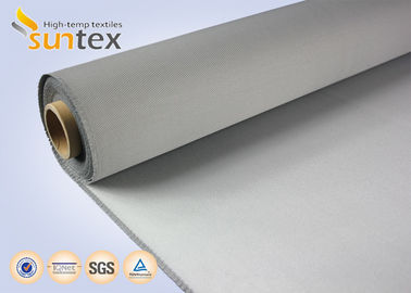 China 550C High Temperature Resistant PU Coated Fiberglass Cloth Roll 0.7mm Fire Protection factory