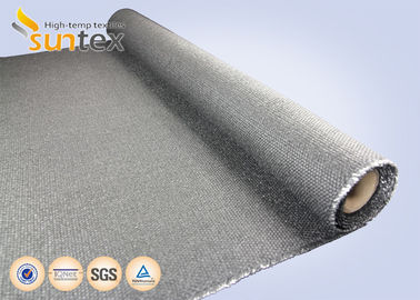 China 650 C High Temp Resistant Fire Blanket Material On A Roll 1.4mm Graphite Coated Firestop Fire Blanket Roll distributor