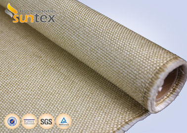 China Heavy Duty Vermiculite Coated Fiberglass Industrial Welding Fire Blanket Roll 800 C Resistance distributor