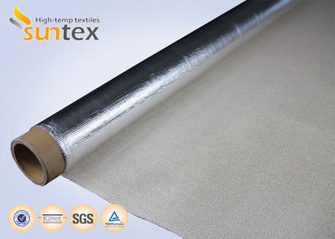 China SUNTEX Aluminum Coated Fiberglass Fabric  Insulation Heat Reflective  0.4mm 550C factory