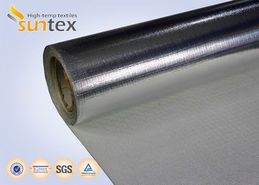 China Aluminum Coated Heat Resistant Reflective Material 0.65mm 550C Welding Protection factory