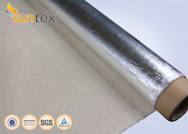 China Aluminum Foil Fiberglass Heat Reflective Fabric 0.7mm Removable Insulation Jackets distributor