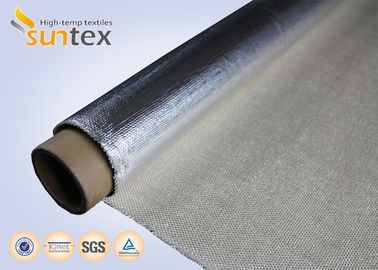 China 150C Aluminum Foil Aluminized Fiberglass Cloth Fireproof Material For Smoke Curtain distributor