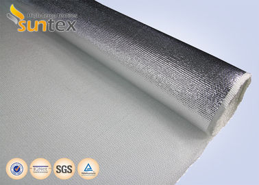 China 38oz Heat Reflective Aluminum Foil Fiberglass Cloth For HVAC System Flexible Hose distributor