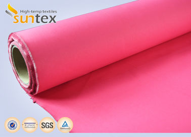 China 16oz Acrylic Coated Fiberglass Fabric Roll For Fire Blanket Fireproofing Curtain OEM colors factory