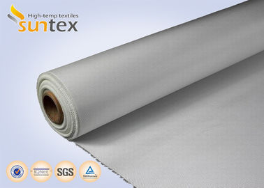 China White Color Acrylic Coated Fire Resistant Fiberglass Fabric 550C High Temp Fabric distributor
