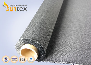 China Black 30oz Twill Fire Resistant Fiberglass Fabric For Welding Curtain Cloth distributor