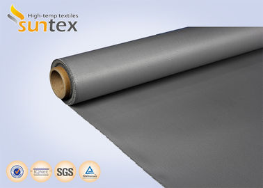 China 0.4 mm Silicone Rubber Coated Fiberglass Fabric For Thermal Insulation Covers factory