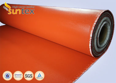 China Red Fire Resistant Silicone Coated glass cloth fabric For Expansion Joint High Strength factory