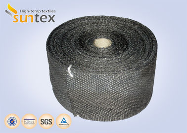 China Good Abrasion Resistance Fiberglass Insulation Tape / Fireplace Door Fiberglass Rope Seal factory