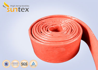 China Fire Retardant Silicone Coated Fiberglass Sleeving 100% E - Glass Yarn factory