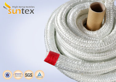 China Heat Insulation 550C Fiberglass Rope Gasket For Industrial Furnace Fireplaces factory