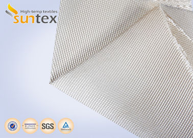 China 1000C High Temperature Resistant High Silica Glass Fiber Fabric Fire Barrier Cloth factory