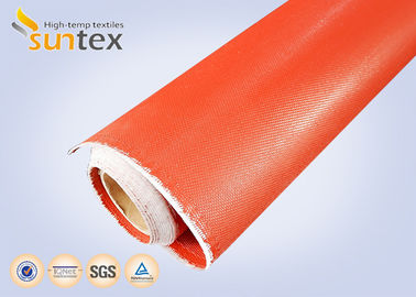 China 1mm Thick Both Side Silicone Rubber Coated Fabric Expansion Joint Material For Heat / Cold Insulation distributor
