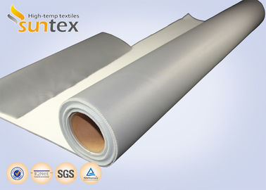 China SUNTEX One Side Silicone Coated Fiberglass Cloth Steam Pipe Insulation Material factory