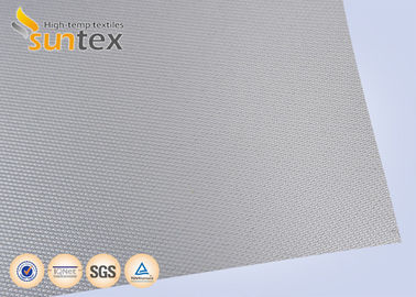 China Silver Grey Fire Resistant Fiberglass Welding Blanket Silicon Rubber Fabric distributor