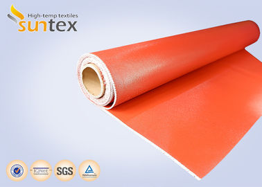 China 0.7 mm Thickness Silicone Coated Fiberglass Cloth For Fire Curtains And Fire Door distributor