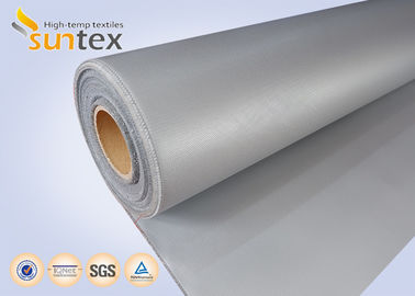 China Silver Grey Silicone Coated Fiberglass Fabric For Heat And Cold Insulation factory