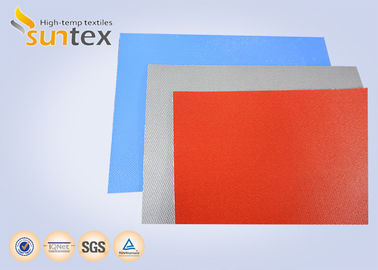 China 730 g Fiberglass Coated Fabric Expansion Joint Cloth With Silicone Anti Fire Air Connector Cloth factory