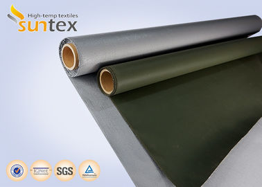 China Fiber Glass Insulation Welding Blanket Roll Silicone Rubber Coated Fiberglass Fabric distributor