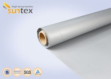 China S.S Wire Reinforced E - Glass Silicone Coated Fiberglass Fabric For Welding Fire Curtain factory